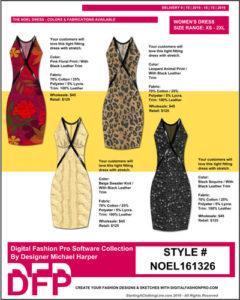 Fashion Design Class - Line Sheet Example