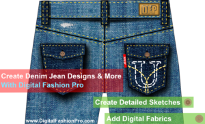 design your own jeans, be a fashion designer, create fashion sketches