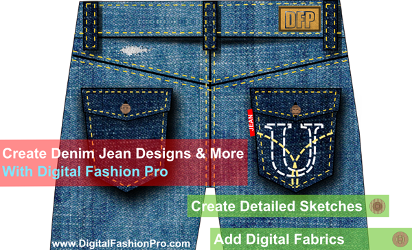 design my own jeans - how to draw fashion sketch of jeans