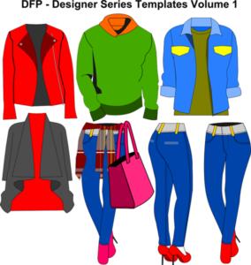 Designer Series Volume 1 - clothing design templates
