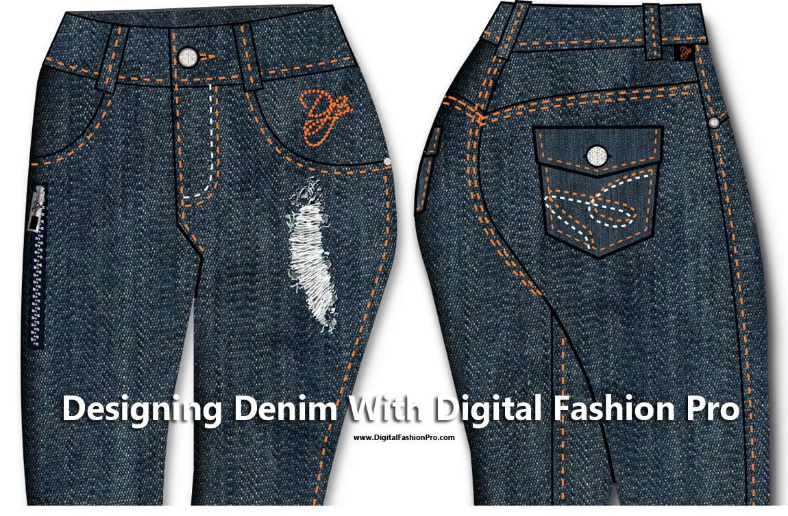 esigning Denim Jeans with Digital Fashion Pro