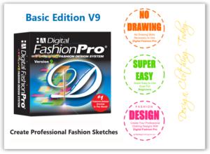 Digital Fashion Pro Basic Edition V9 Logo - Plus design clothing