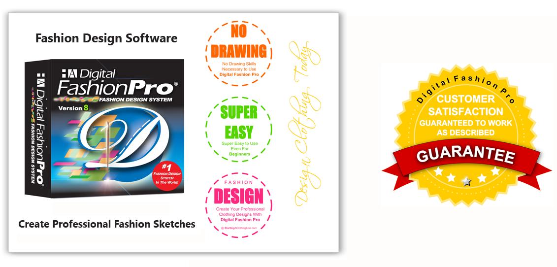 Digital Fashion Pro - fashion design software inforgraphic of information on fashion designing