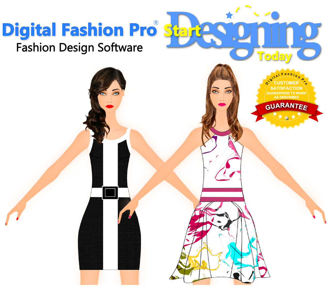 Digital Fashion Pro Fashion Design Software - create fashion sketches - design your own clothing