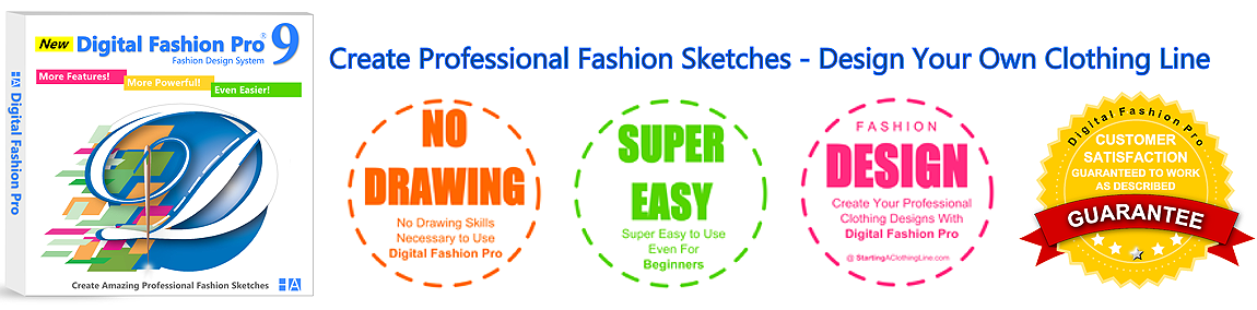 Digital Fashion Pro fashion design software - fashion illustration infographic for how to design clothing