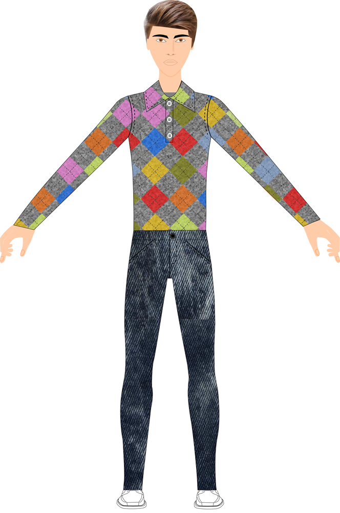 Fashion Sketch - Fashion Design Software - Menswear Fashion Designer