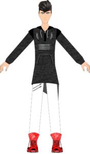 Fashion Design Software - Menswear Fashion Designer - long hoodie