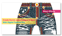 Digital Fashion Pro Denim Wash Factory, fashion illustrate your clothing ideas on jeans