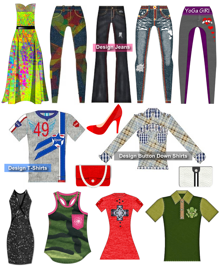 Digital fashion pro clothing design software design for Where can i create my own shirt