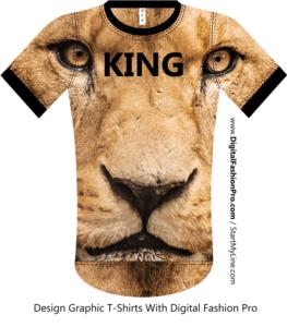 Lion T-shirt - Fashion Design Software - by Digital Fashion Pro