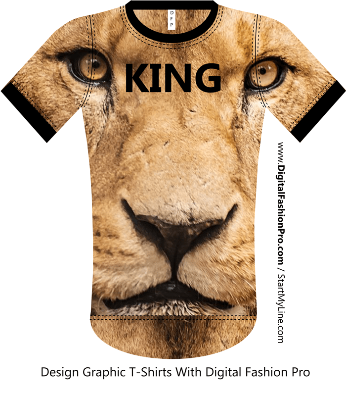 Lion T-shirt - Fashion Design Software - by Digital Fashion Pro