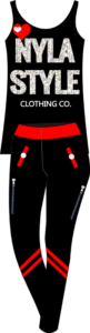 NY Style T-shirt and Black Leggings