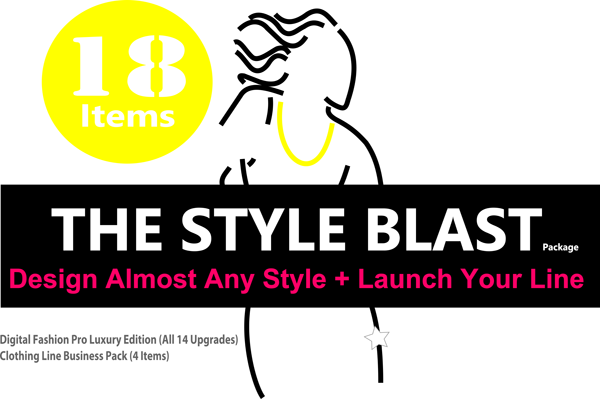 Style Blast Package Start a clothing line - fashion designing course - how to draw fashion drawings