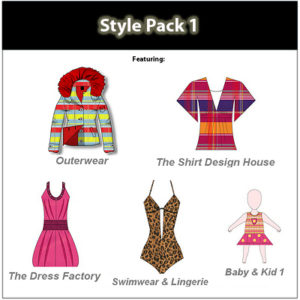 Digital Fashion Pro Style Pack for fashion illustrating