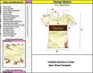 spec sheet templates