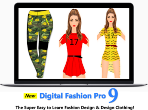 fashion designing course - fashion sketches creating in the training videos