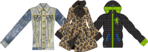 Designer Coat Jacket - Animal Print Denim