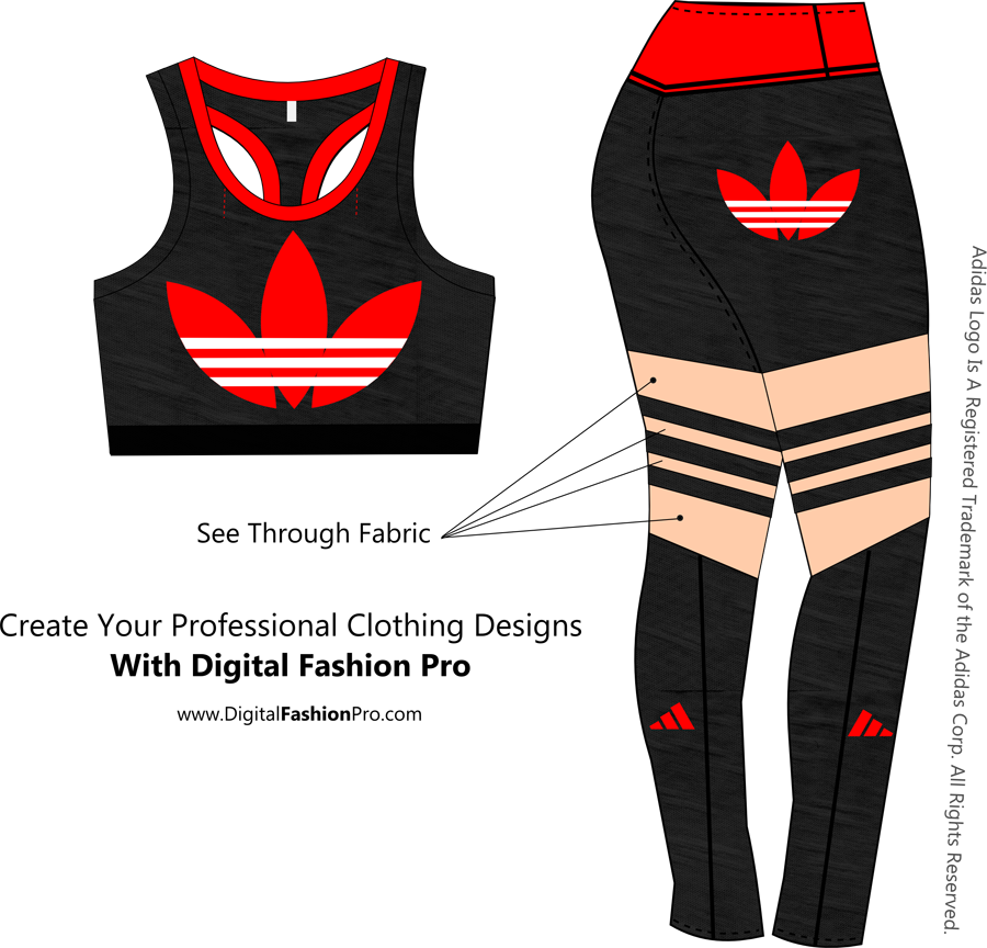 Adidas - Clothing Design Software - Design by Digital Fashion Pro Fashion Design Software