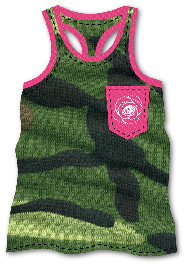 Camo Tank - 3dshader - clothing design software