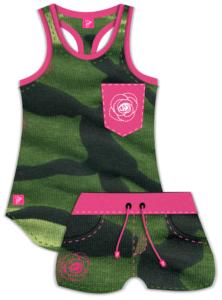Camo Tank -Camo Shorts- 3dshader - clothing design software -3DStyle