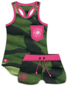 Camo Tank -Camo Shorts- 3dshader - clothing design software- overlap - 3dstyle