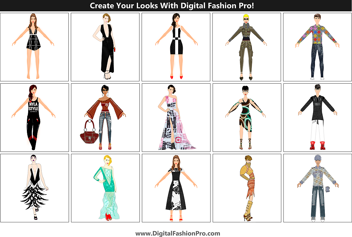 Create your fashion designs with Digital Fashion Pro Fashion Design Software - model edition
