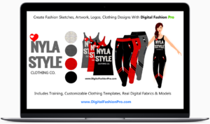 Design clothing - draw digital fashion sketches - clothing design software - windows and mac