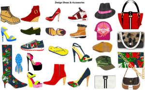 Design your own shoes - handbags - hats - accessories with Digital Fashion Pro Clothing Design Software