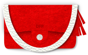 Designer Red Suede Clutch with tassels - 3dstyle - clothing design software