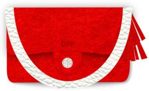 Designer Red Suede Clutch - 3dstyle