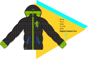 Digital Fashion Pro Fashion Designer Software - Bubble Coat Graphic