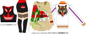 Digital Fashion Pro - fashion design software - Gucci - Addidas - M Harper - Clothing Design