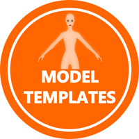 Fashion Design Model Pose Templates - clothing design software
