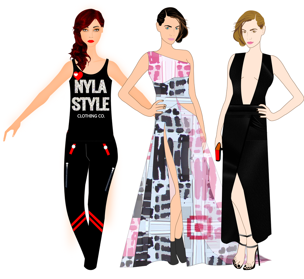 Fashion Design Software - Clothing Design Software by Digital Fashion Pro - 3 Fashion Sketches