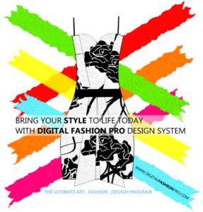 Fashion Design Software - Digital Floral Dress Design