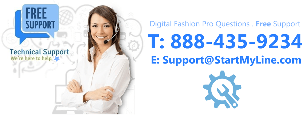 Free Technical Support - Digital Fashion Pro - SML2