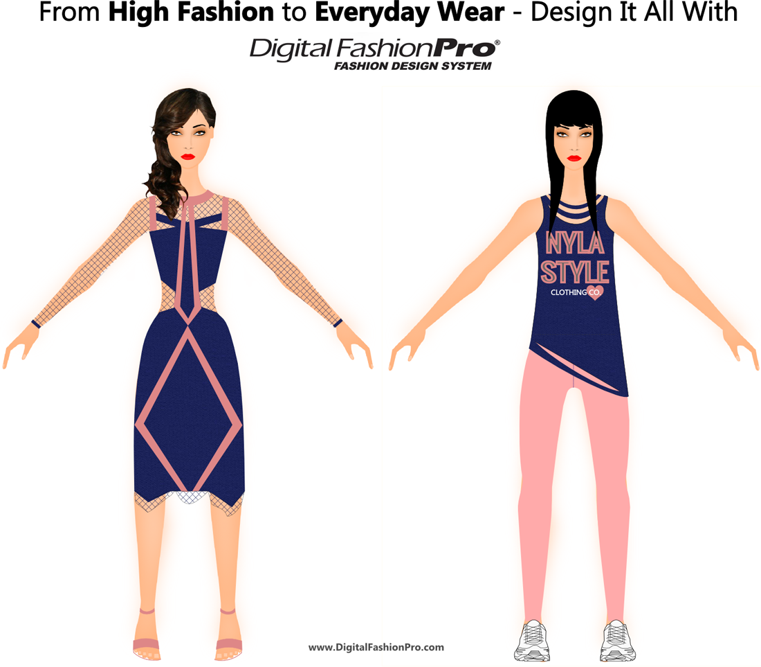 High Fashion - Everyday Clothing - Fashion design software by Digital Fashion Pro