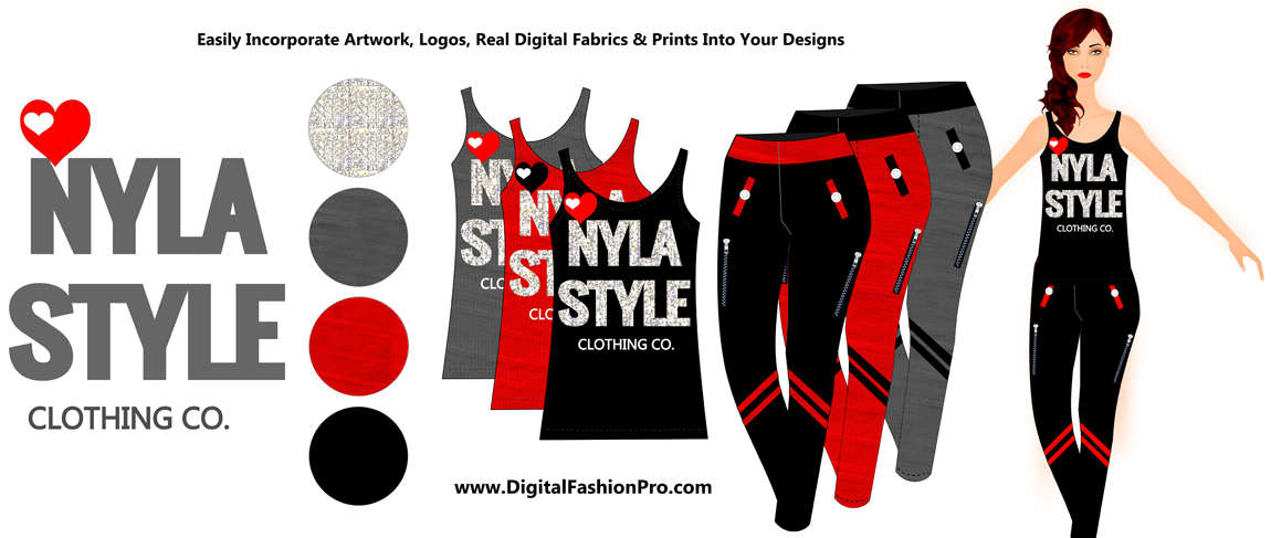 Fashion design - fashion illustration - apparel design