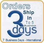 Orders Ship in 3 Business Days or Less