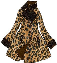 Animal Skin Coat - Fashion Sketch