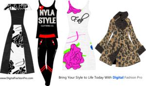 fashion designer software - By Digital Fashion Pro - design your coat - leggings dresses