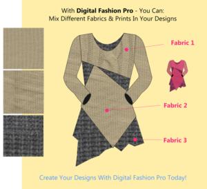 mix and match digital fabrics with - fashion design software - by digital fashion pro
