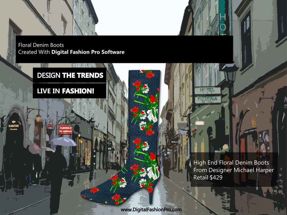 Fashion Magazine - Fashion Designer - Fashion Design Software - Digital Fashion Pro - Designer Boots