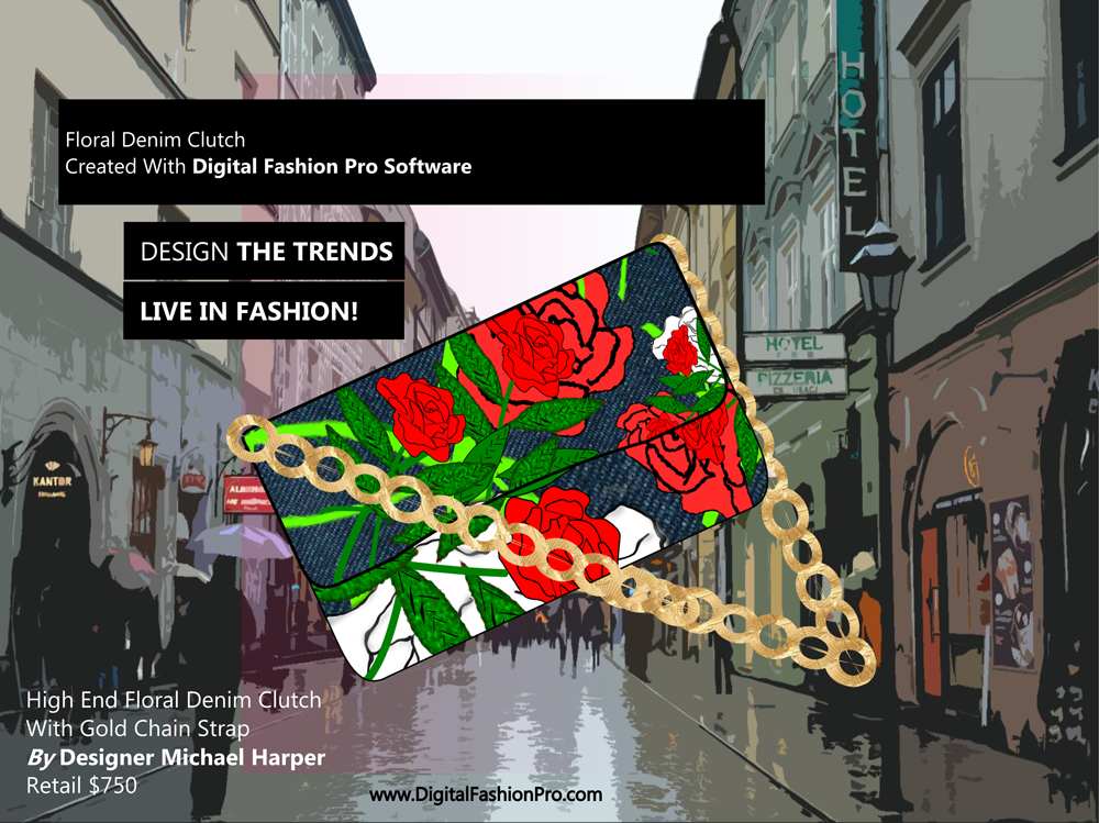 Fashion Magazine - Fashion Designer - Fashion Design Software - Digital Fashion Pro - Designer Clutch