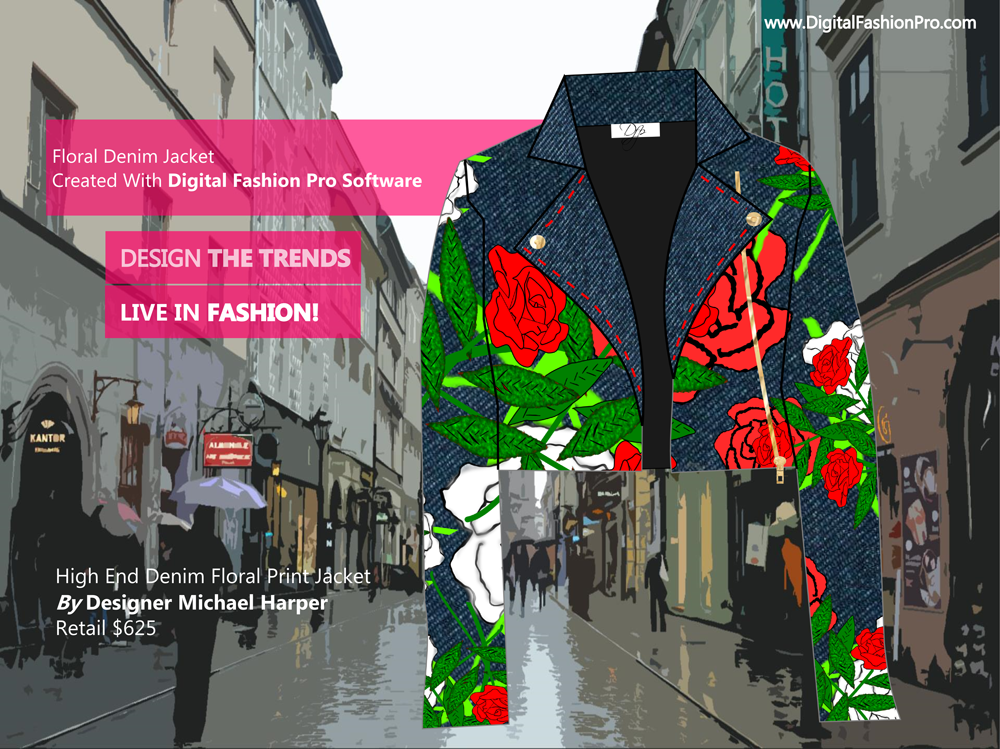 Fashion Magazine - Fashion Designer - Fashion Design Software - Digital Fashion Pro - Designer Jacket