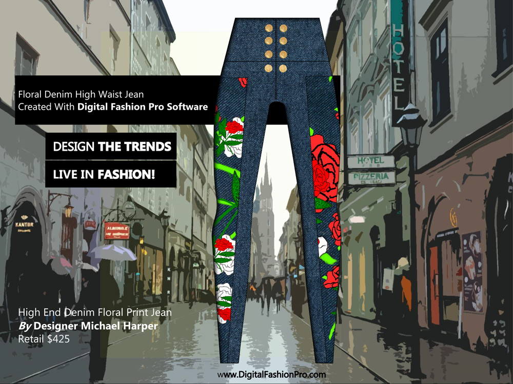 Fashion Magazine - Fashion Designer - Fashion Design Software - Digital Fashion Pro - Designer Jean