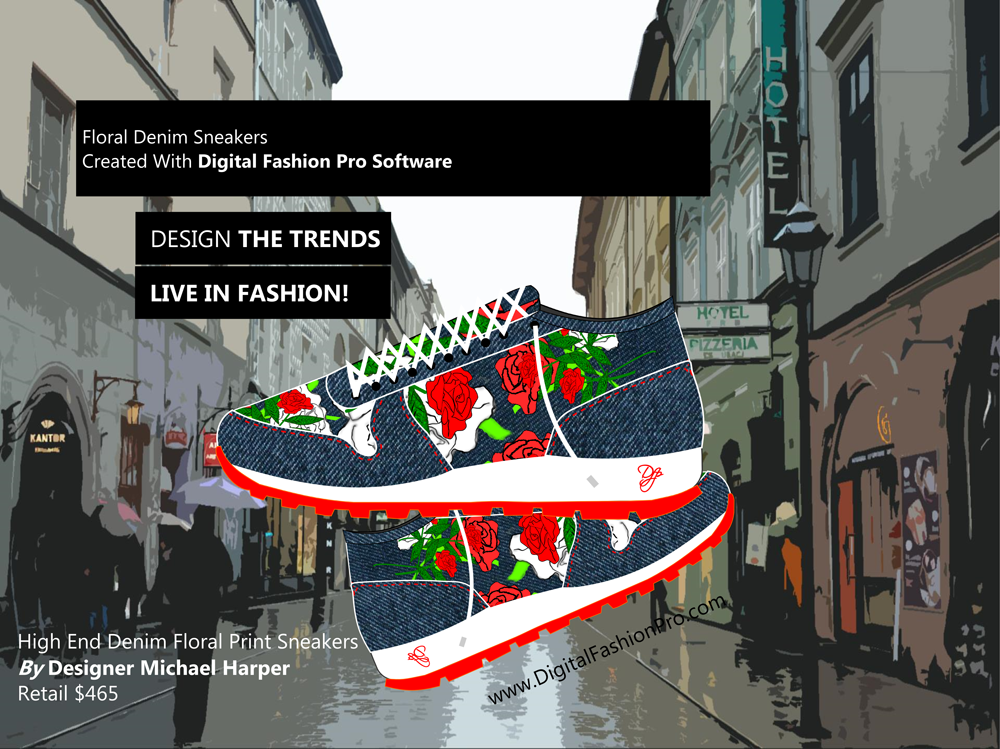 Fashion Magazine - Fashion Designer - Fashion Design Software - Digital Fashion Pro - Designer Sneakers Shoes