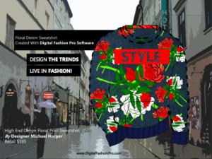 Fashion Magazine - Fashion Designer - Fashion Design Software - Digital Fashion Pro - Designer Sweatshirt