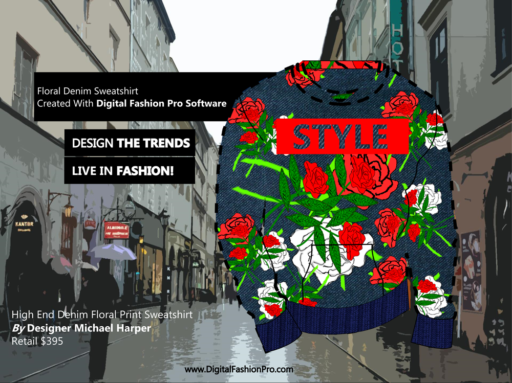 Fashion Magazine - Fashion Designer - Fashion Design Software - Digital Fashion Pro - Designer Sweatshirt