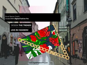 Fashion Magazine - Styles Created With Digital Fashion Pro - Designer Handbag Clutch